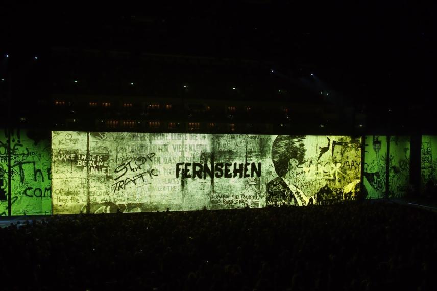 Берлинската стена по време на концерта