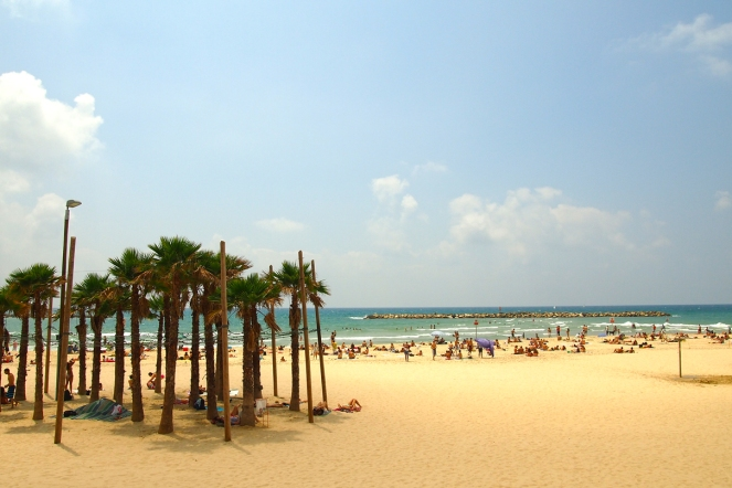 Плажът в Тел Авив