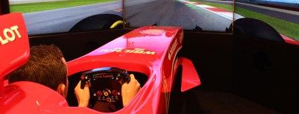 Симулатор в музеят Ferrari