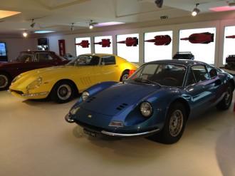 Част от колекцията в музеят Ferrari
