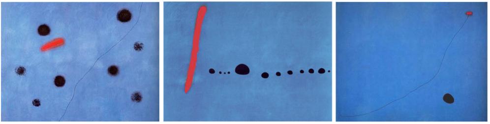 картините Blue I, II,III