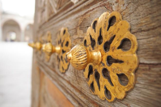 Детайл от Юч Шерефели джамия
