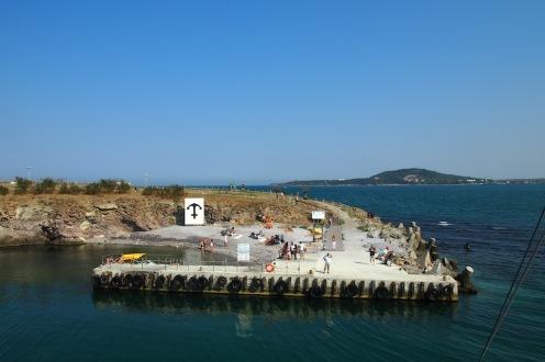 Пристанището на остров Св.Анастасия