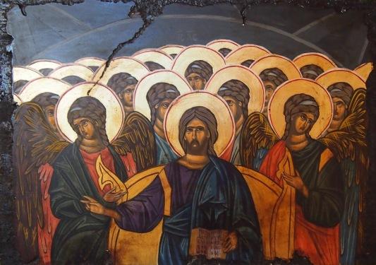 Иисус Христос Пантократор с ангели и светии