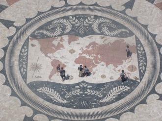 Мозайка - Картата на света