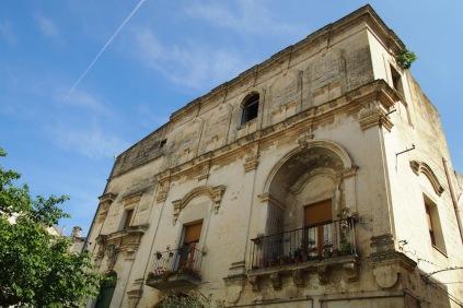 Фасада в старта част на Матера