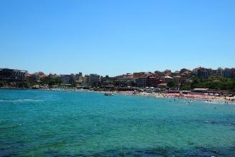 Изглед към плажа в Созопол