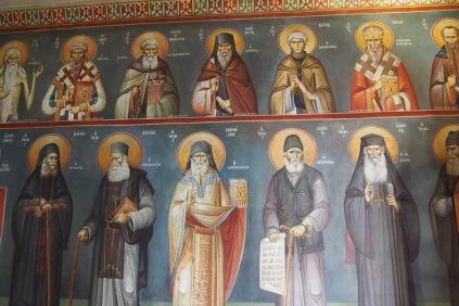 Стенописите в параклиса на Пантанаса