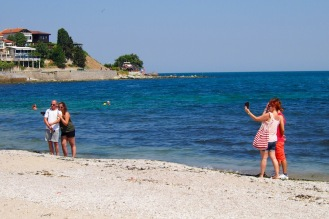 Туристи си правят селфи