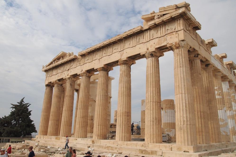 Партенонът - посветен на Атина Партенос, покровителка на град Атина