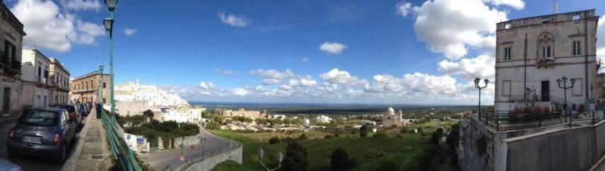 Панорама от Остуни