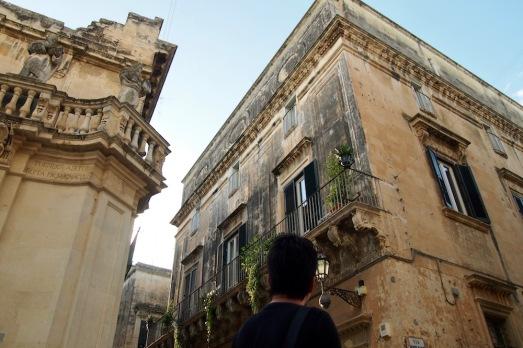 Поглед към фасадите