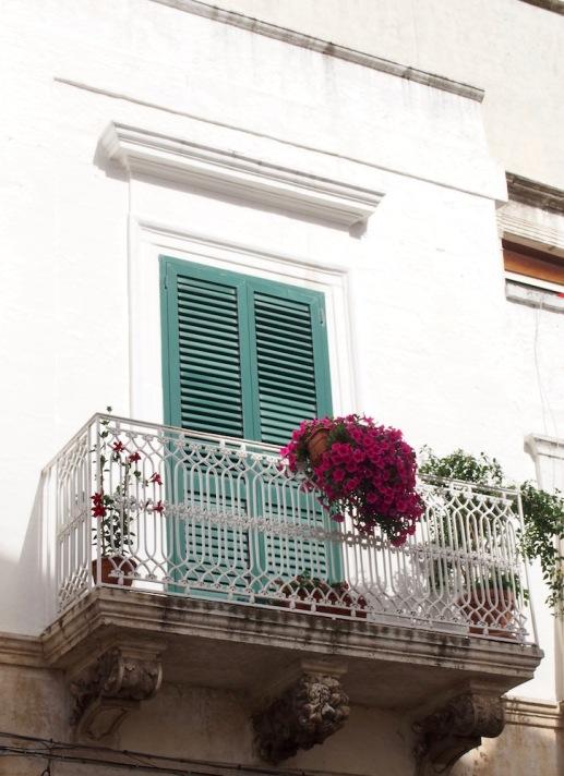Балкона с цветята