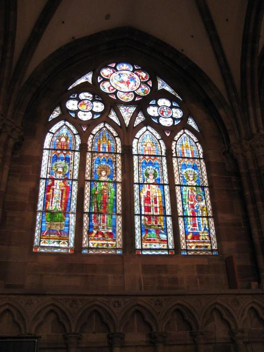 Стъклописите в катедралата Нотр Дам дьо Страсбург