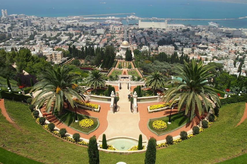 Бахайските градини в Хайфа