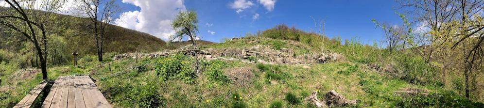 Панорама от крепостта Урвич