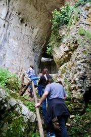Другият вход на пещерата