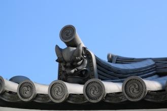Детайл от покрива на будиски храм