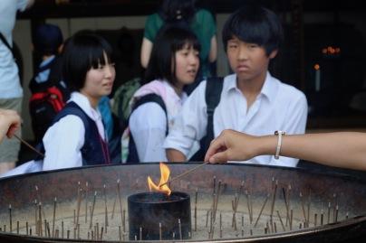 Ученици пред храма Тодай-джи