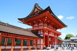 Главната порта на храма Фушими Инари Тайша
