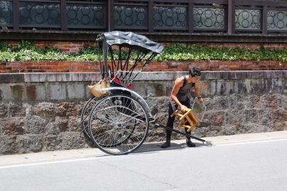 Рикша за туристи в Киото