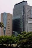 Модерни сгради до замъка Осака