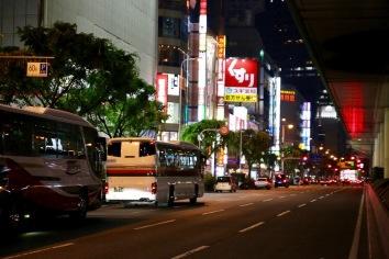 Един от главните булеварди в Осака