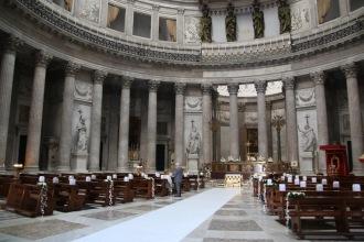 Интериора на базиликата Сан Франческо ди Паола