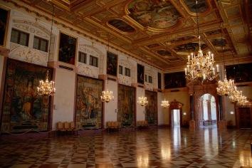 Императорската зала в Мюнхенската резиденция.