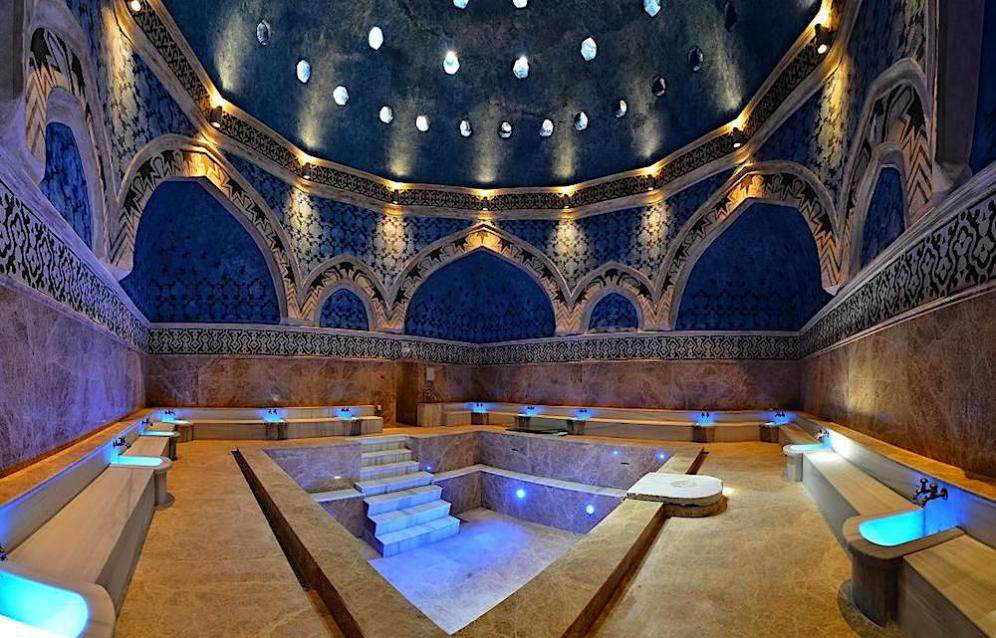 Реставрираната баня превърната в музей.