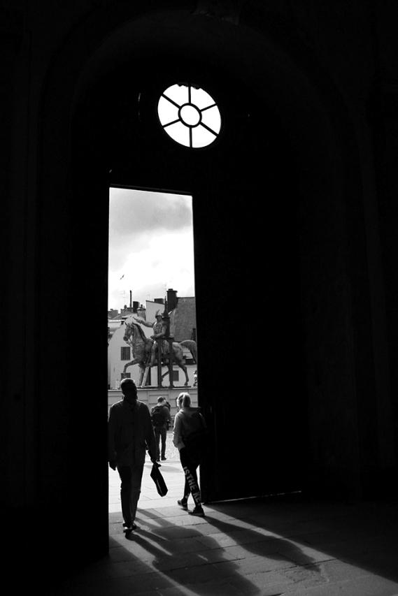 Поглед от портата на кралския дворец.