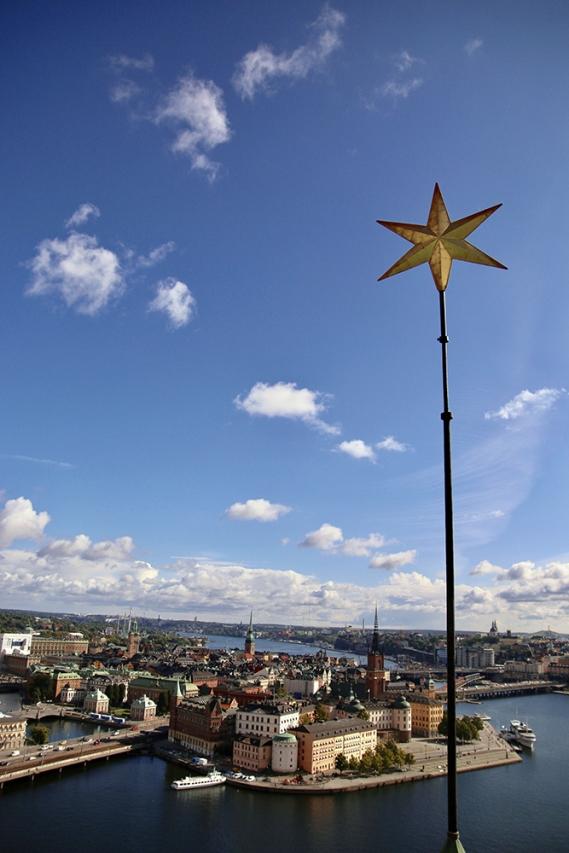 Гледката от кулата на кметството.