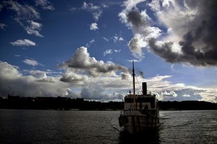 Малките корабчета са част от градския транспорт на Стокхолм.