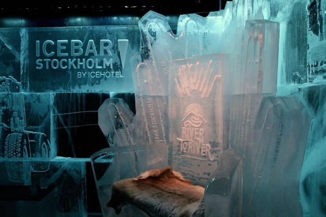 Леденият бар в Стокхолм.
