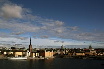 Стария град от Södermalm.