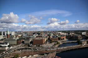 Панорамна гледка от кулата на кметството.