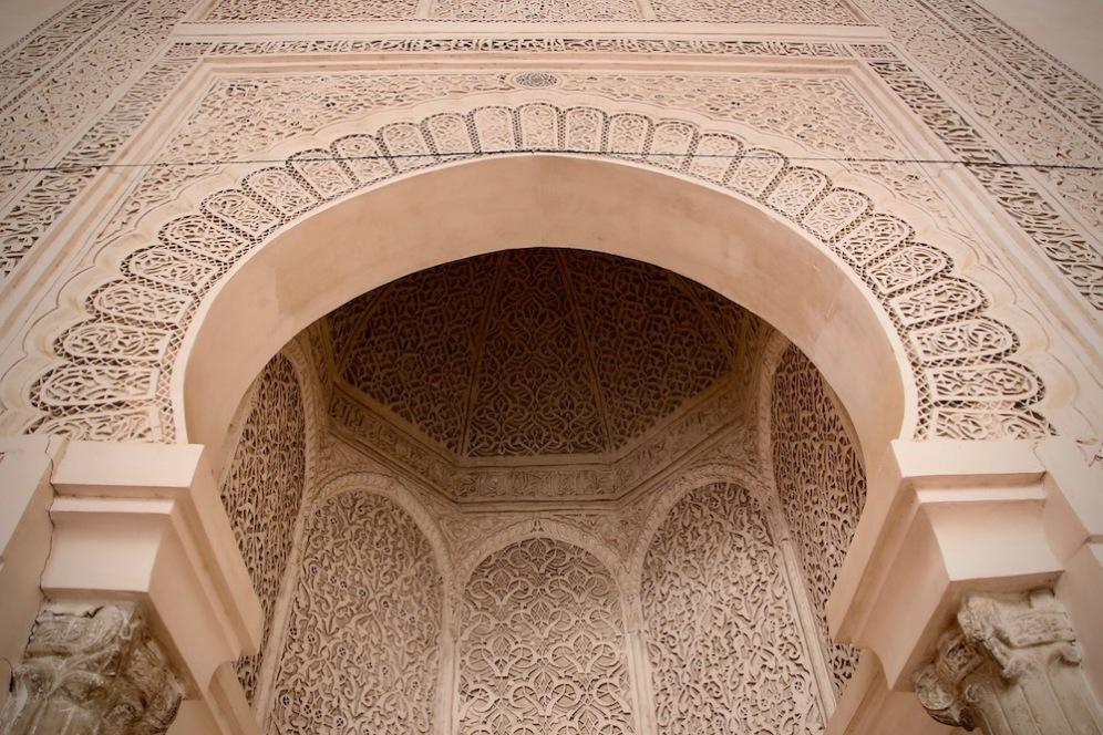 Детайли от джамията в мадраса Бу Инания, Фес.