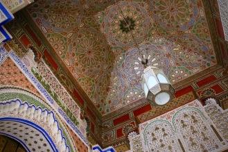 Част от фасадата на мавзолеят на Мулай Идрис II.