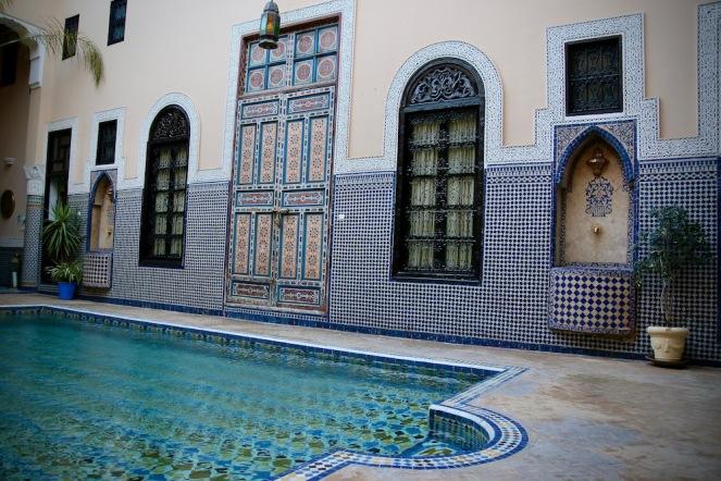 Вътрешния двор на риад Барака.