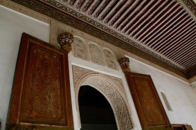 Архитектурни детайли в двореца Бахия.