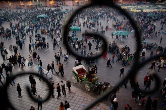 Площад Джемаа ел Фна, Маракеш.