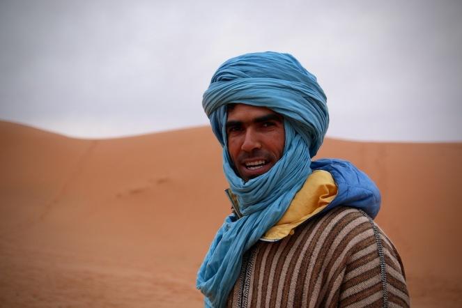 Хасан, гидът ни в пустинята.