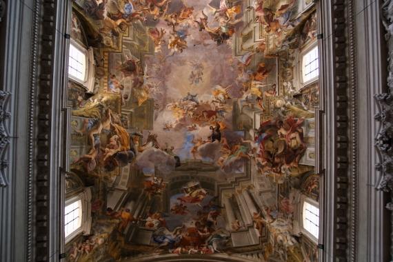 Илюзионистичен барок в църквата Сант'Игнацио ди Лойола.