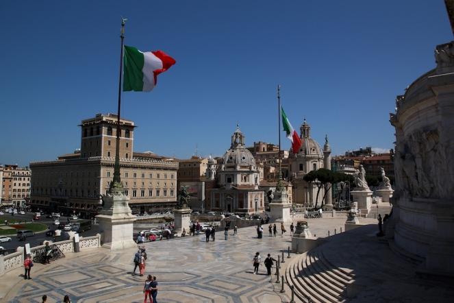 Гледката към площад Венеция от Виториано.