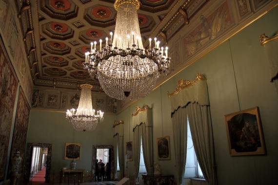 Една от залите в двореца Куиринале.