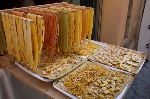 Различни типове паста.