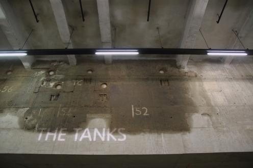 Входът към резервоарите в TATE Modern.