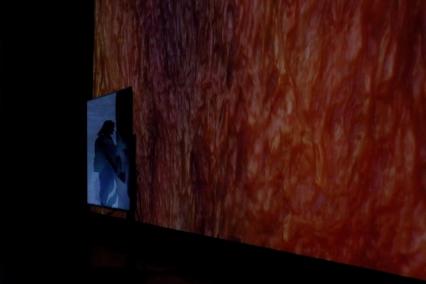 Галерия Serpentine Stackler - видео инсталация на Sondra Perry: Typhoon coming on.