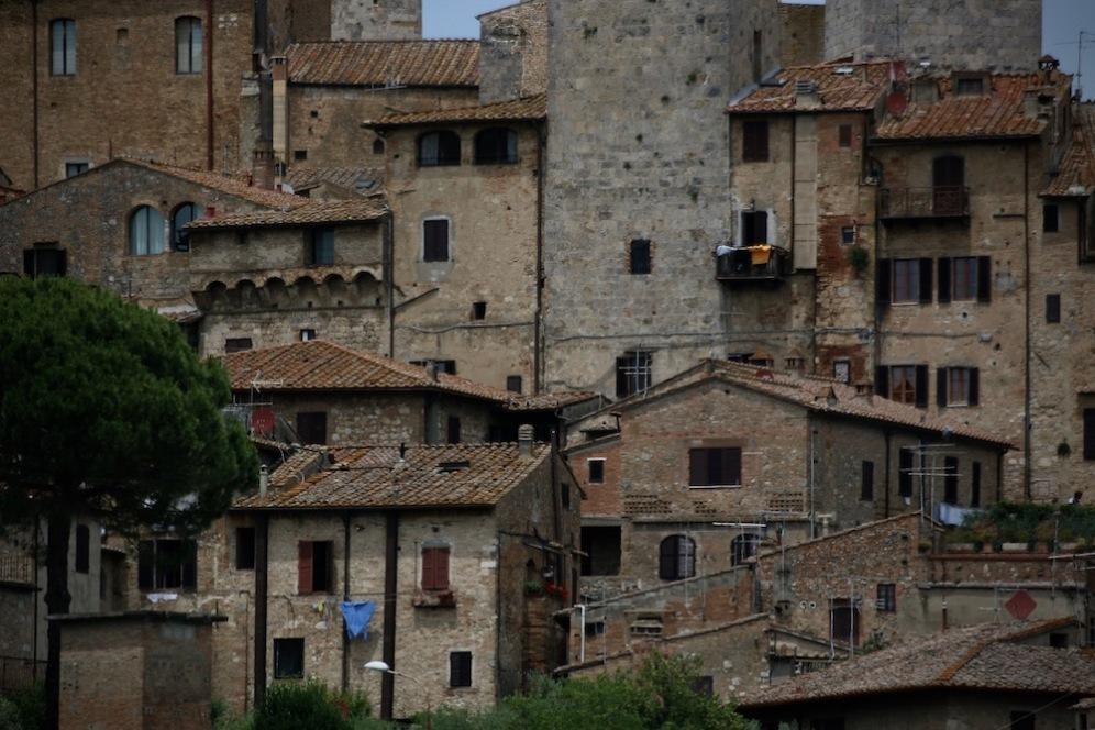 Каменните къщи в Сан Джиминяно.
