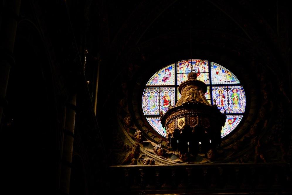 Детайли от интериора на катедралата на Сиена.